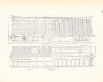 1892 technical drawing railroad car antique math geometric 1892 technical drawing railroad car antique math geometric drafting interior design blueprint art illustration framing 100 years old malvernweather Images