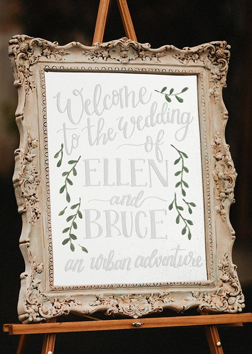 Ellen Bruce Mirrors Wedding Signs Wedding Wedding Signage