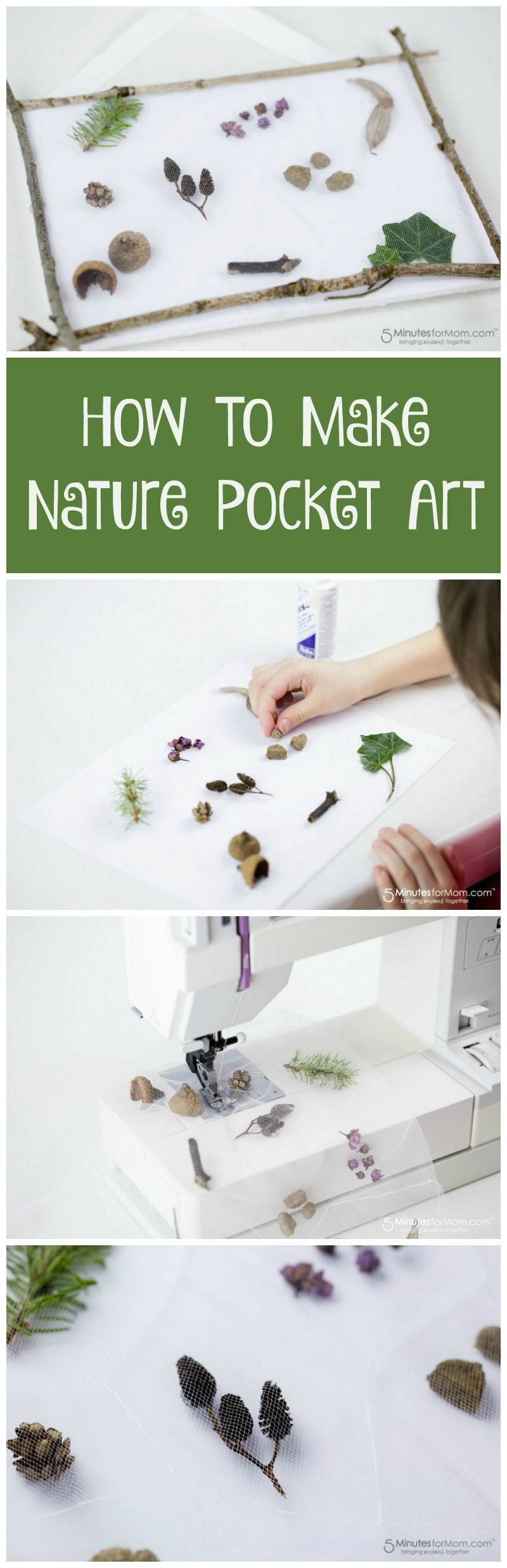 How to make nature pocket art nature craft for kids the fun kids activity is a lovely way to treasure memories from a nature walk with your children