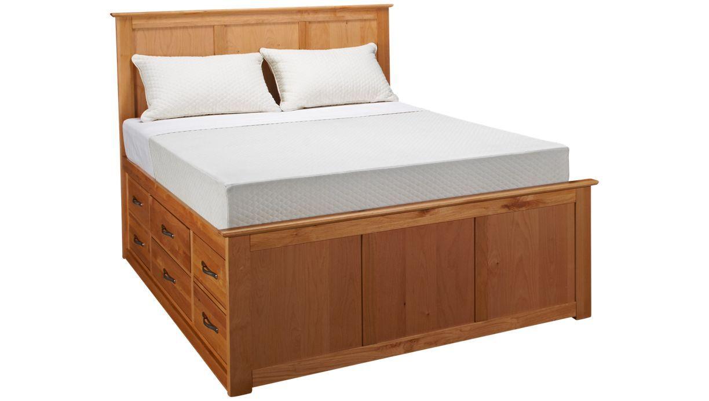Vaughan Bassett Ellington Ellington Queen Garden Bed With Underbed Storage Storage Bed Queen Underbed Storage Drawers Under Bed Storage
