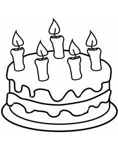 Disegno Torta Con Candeline Da Colorare 660x847 Jpg 660 847
