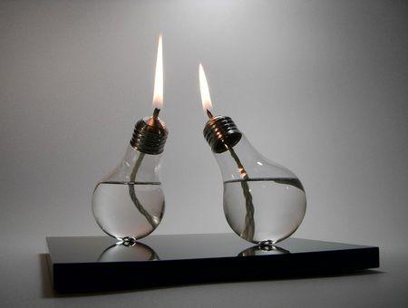 Unique Light Bulb Candle Diy Lighting Old Lights