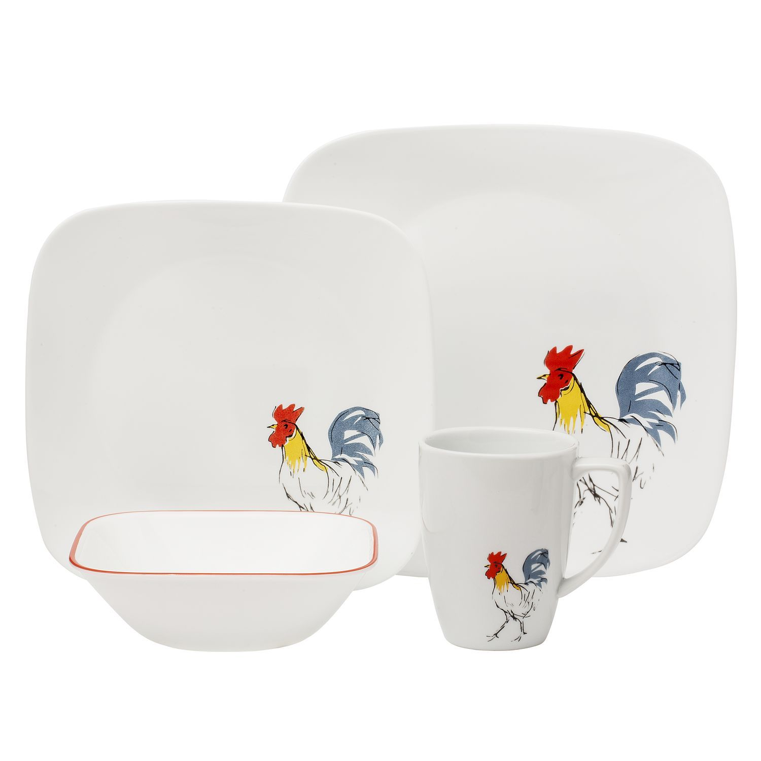 Corelle® Square™ Country Dawn 16-pc Dinnerware SetSquare™ Country Dawn 16-pc Dinnerware Set  sc 1 st  Pinterest & Corelle® Square™ Country Dawn 16-pc Dinnerware SetSquare™ Country ...