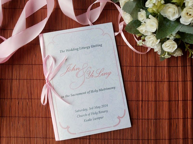 chinese wedding invitation card in malaysia%0A wedding church booklet covers  Google Search