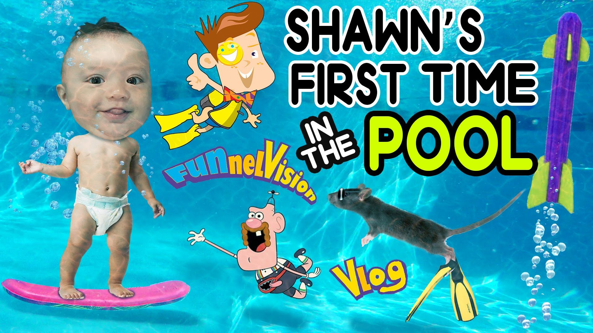 Baby Shawn S First Time Swimming In The Pool Underwater Skateboard Funnel Vision Vlog Pool Swimming Pools Underwater [ 1080 x 1920 Pixel ]