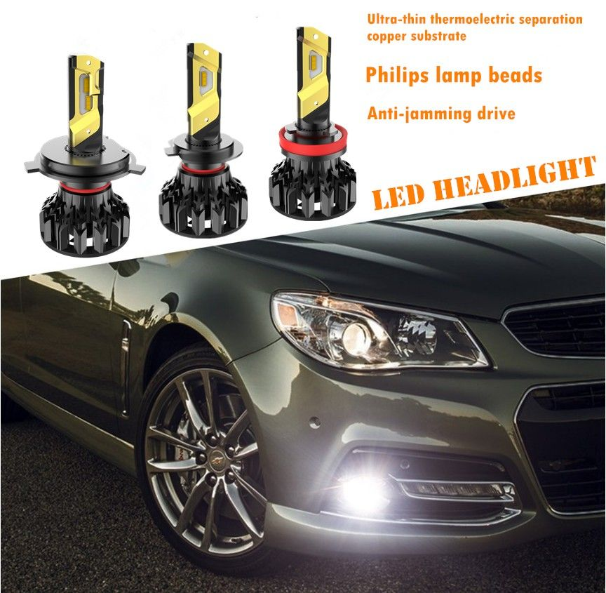 King Series Led Headlight Philips Zes Chips Real Power 30w New