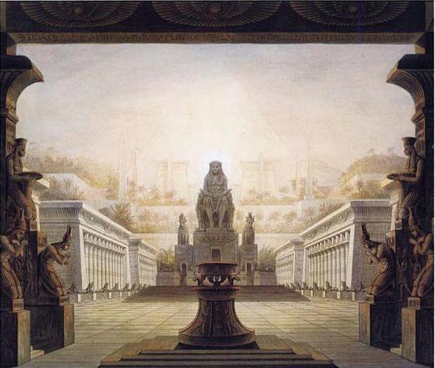 One Of Karl Friedrich Schinkel S Stage Designs For Mozart S Magic Flute The Magic Flute Stage Design Set Design Theatre