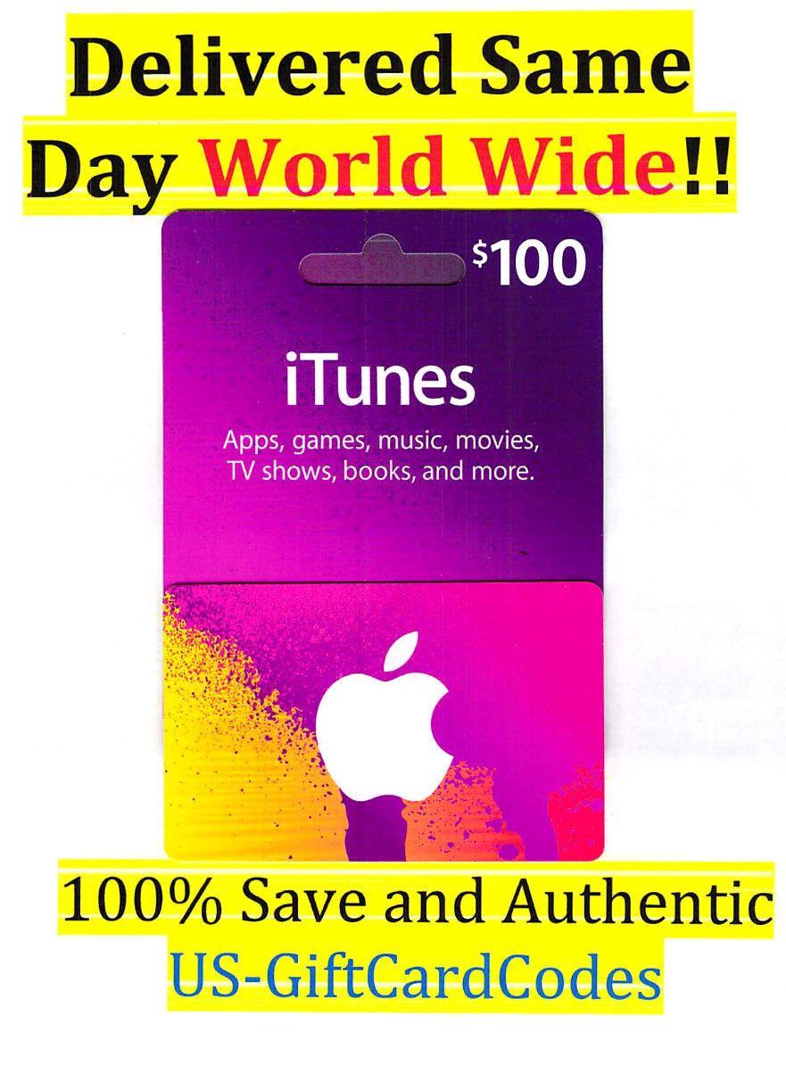100 Us Apple Itunes Gift Card Certificate Worldwide Fastest