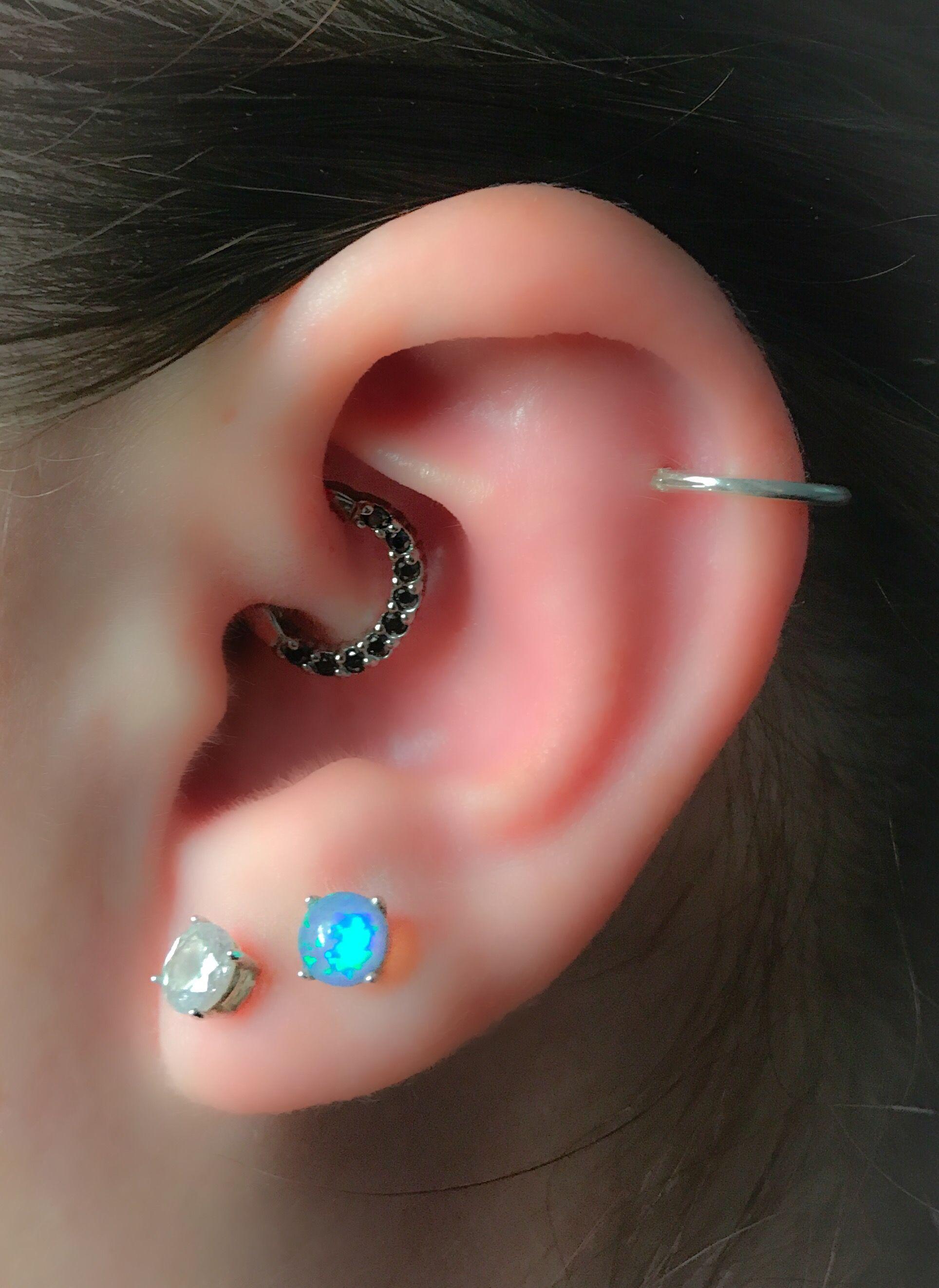 Body piercing earrings  Pin by Body Piercing By Qui Qui on Daith Piercings  Pinterest