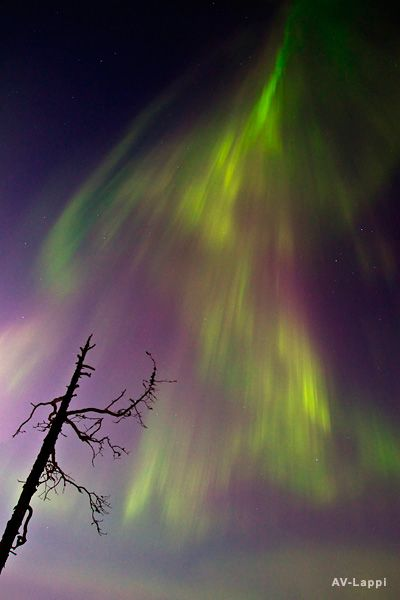 Solar flare view from Finland