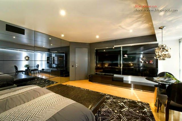 Dormitorio para hombre de karim chaman interiores for Amoblar departamentos pequenos