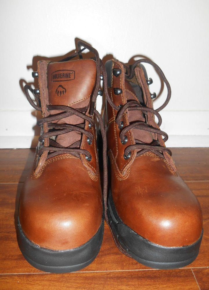 "Wolverine Womens Size 8.5 Harrison 6"" Brown Leather W04677 New Work & Safety #Wolverine #WorkSafety #WalkingHiking"