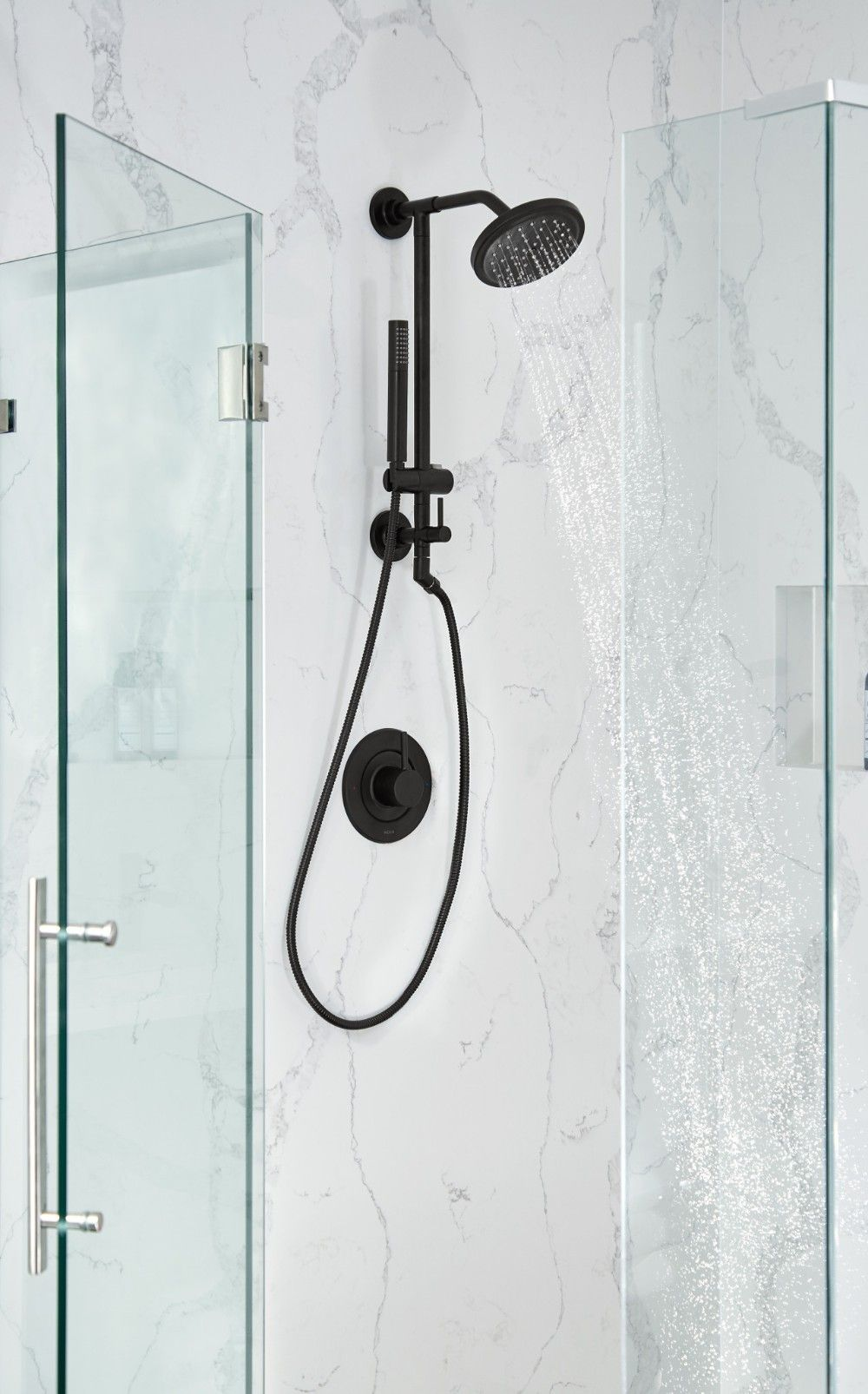 Annex Matte Black Shower Only Black Shower Moen Shower Fixtures