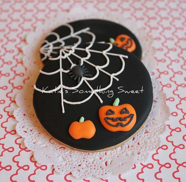 darling spider and pumpkin cookies, halloween cookies Halloween - halloween pumpkin cookies decorating