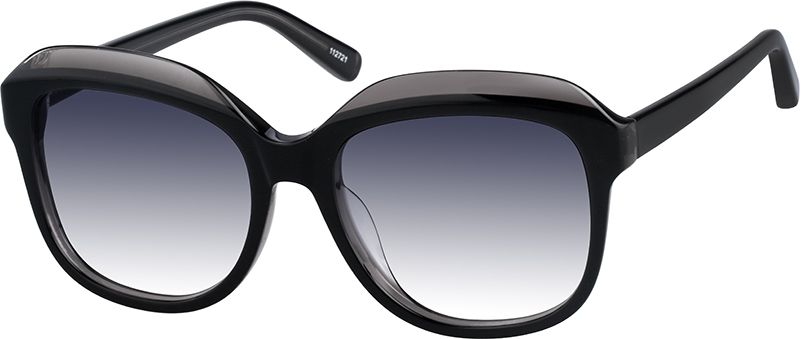 Black premium square sunglasses 112721 zenni optical