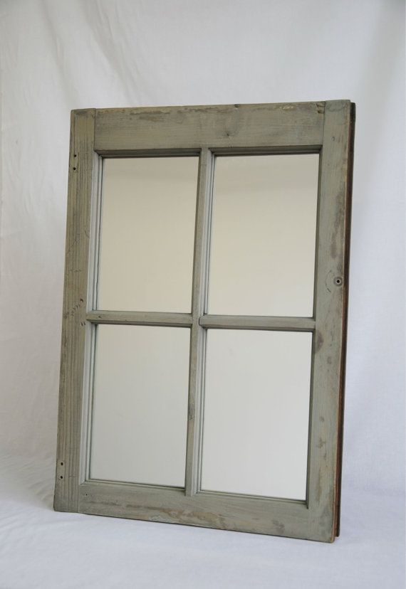 Old Wooden Window Frame Mirror - 1940-1950\'s window - Special ...