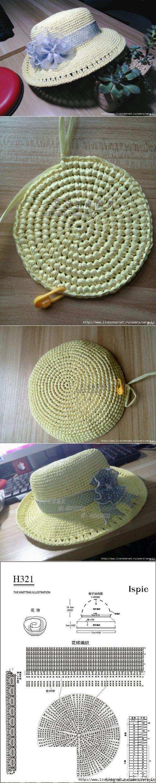 Шляпка крючком | IDEAS | Pinterest | Sommerhut damen, Hüte und Häkeln