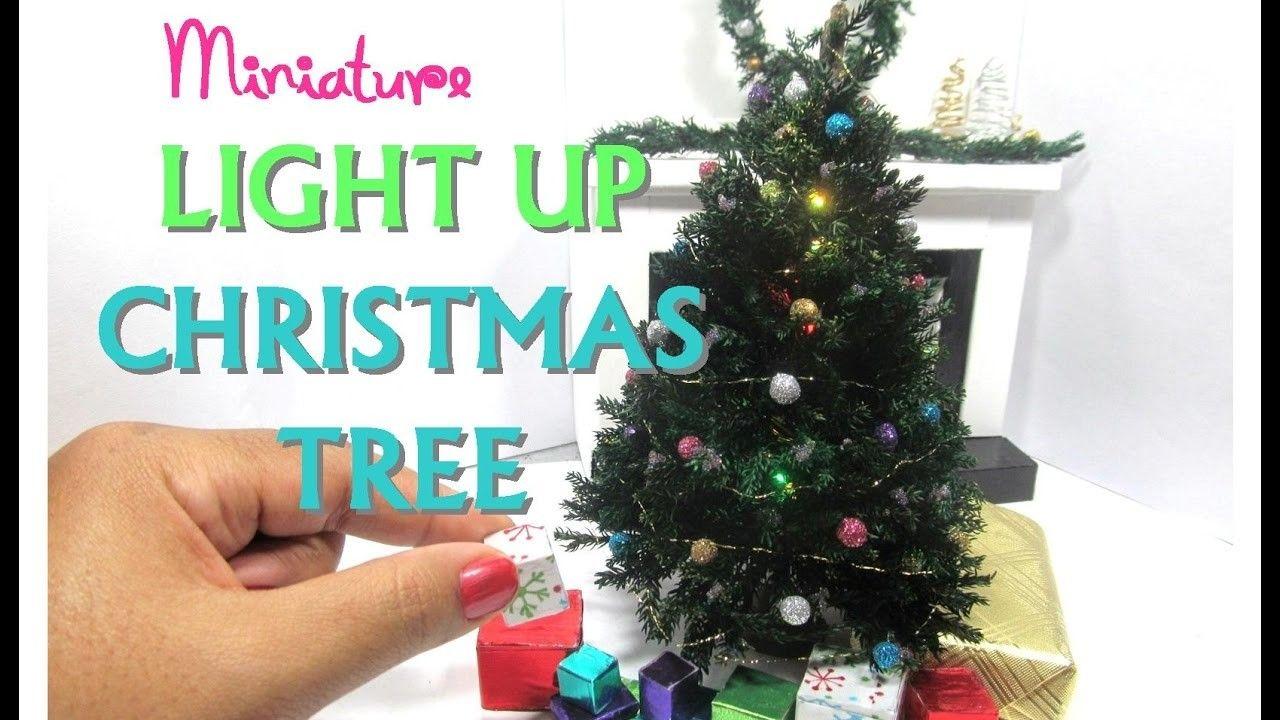 DIY Realistic Light Up Christmas Tree Moss Dollhouse