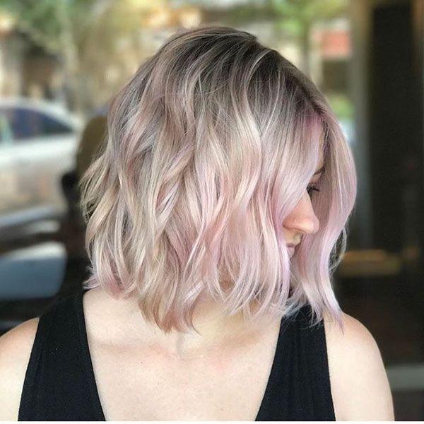 45 Popular Short Wavy Hairstyles In 2020 Short Wavy Hair Short Hair Balayage Short Hair Styles