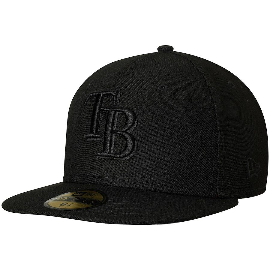 hot sale online 1e885 224d5 Men s Tampa Bay Rays New Era Black Primary Logo Basic 59FIFTY Fitted Hat,   33.99