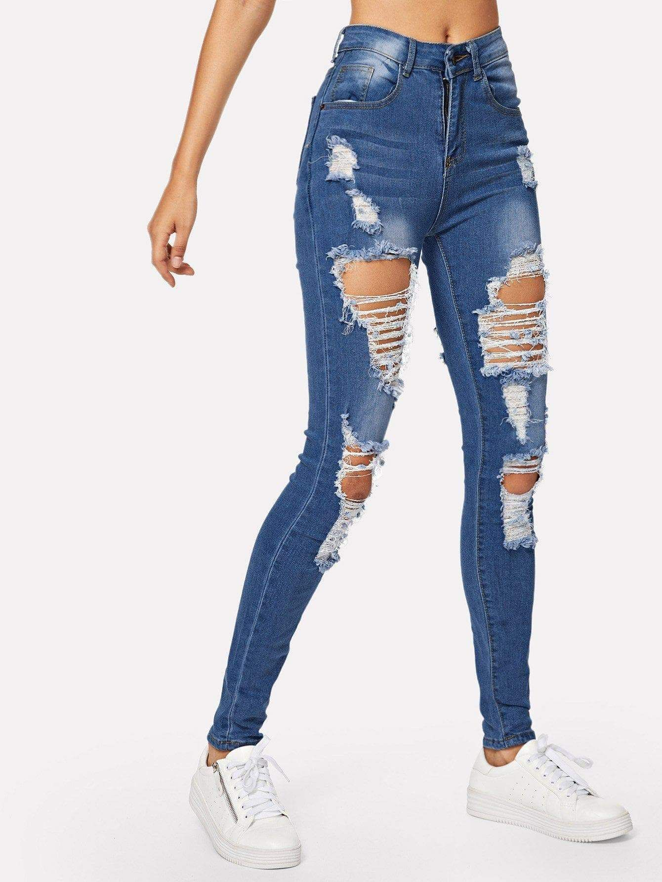Pin by Apparel & Accessories on Jeans   Cute ripped jeans, Womens ...
