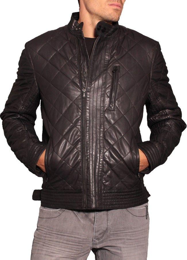 Acheter veste en cuir homme