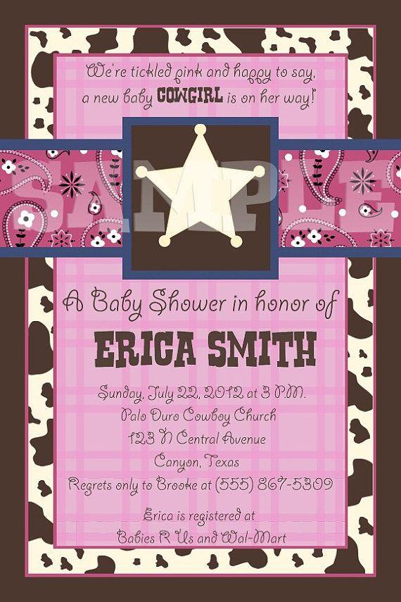 Custom Lil Cowgirl Baby Shower Invitation by creativelyexpressive