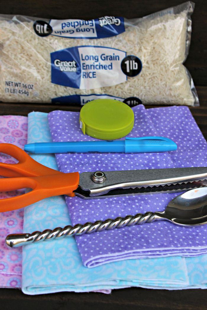 How To Make A Homemade Bean Bag Heating Pad Rice Bags