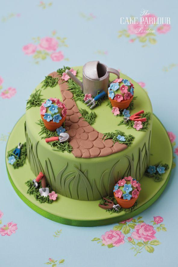 Gardening Cake Jpg 591 887 Celebration Cakes Creative Cake Decorating 70th Birthday Cake