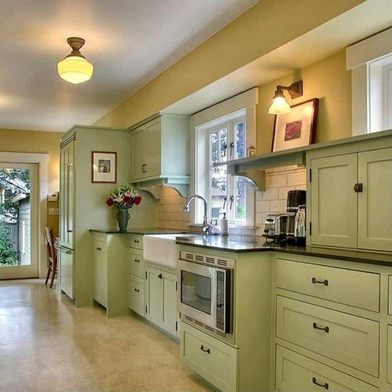 25 Absolutely Gorgeous Transitional Style Kitchen Ideas: 27 Beautiful Kitchen Color Ideas To Bring Joy To Your