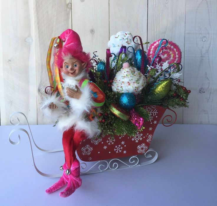 Christmas Sleigh Centerpiece Christmas table centerpiece Christmas