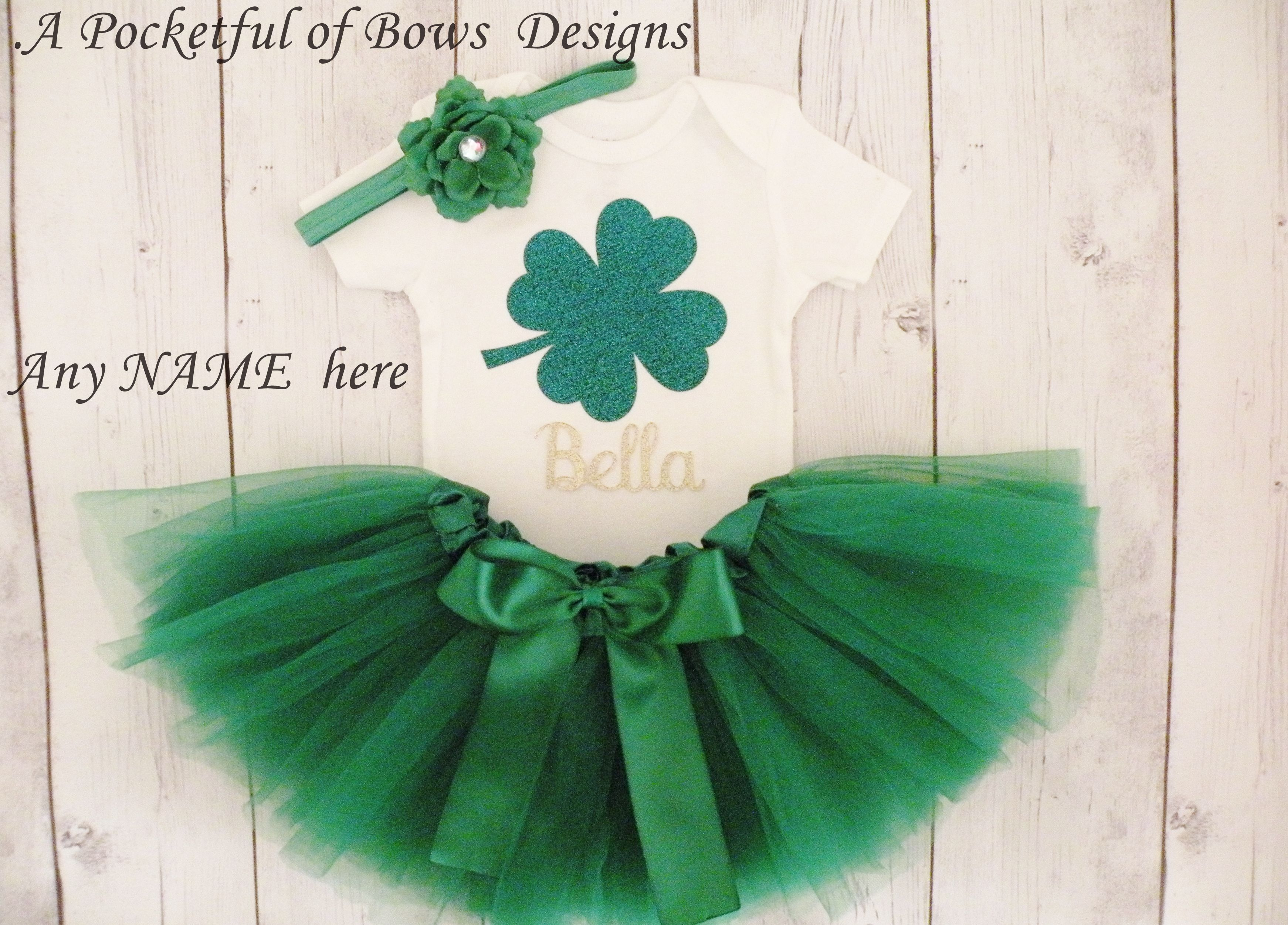 Baby 1st  St Patricks Day Bodysuit Vest Outfit Irish Baby Gift Photoshoot Party