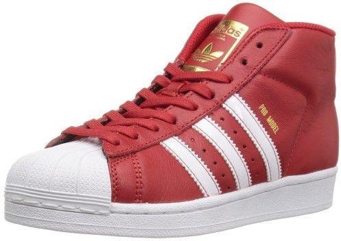 adidas BY3730   Boys  Pro Model J Sneaker Scarlet White Metallic Gold (4 M  US Big Kid) 4d111fcdac