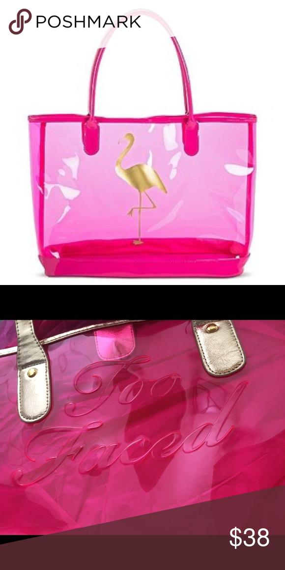 Too Faced Large Pink Pool Tote Bag Tote Bag Bags Tote