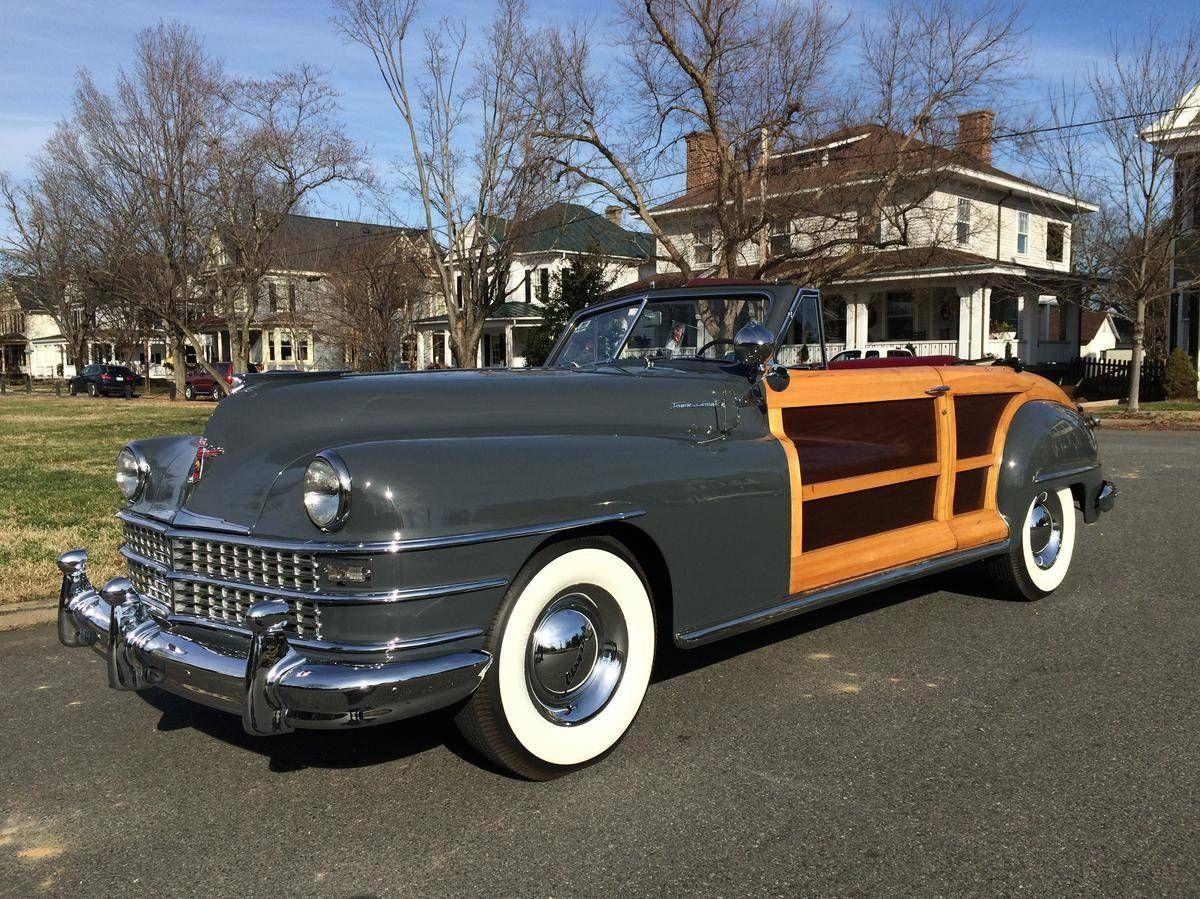 1948 Chrysler Town Country Convertible Woody Original Seats