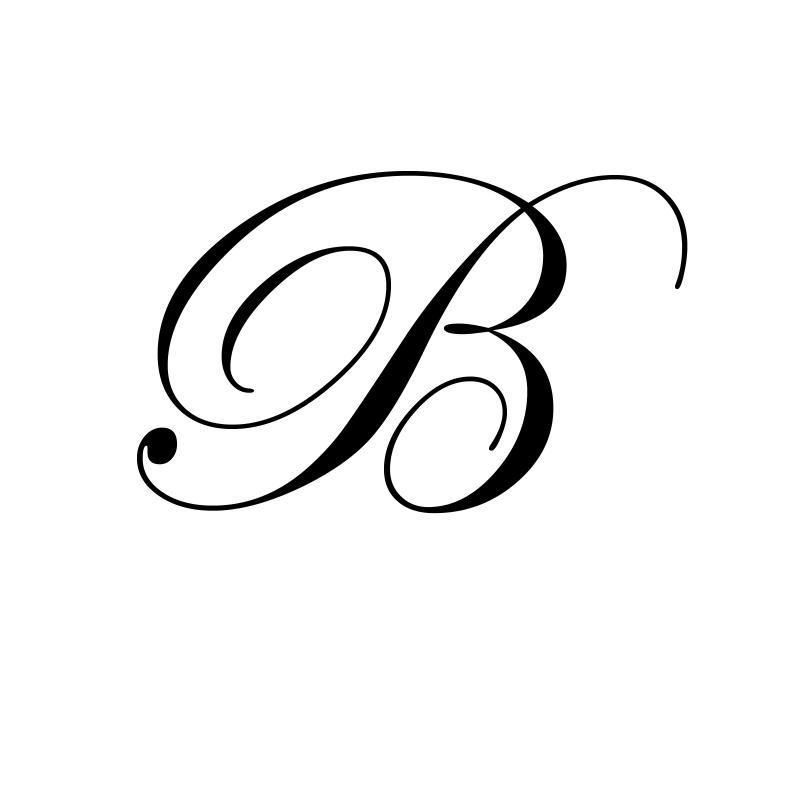 Image Detail For Letter B Script