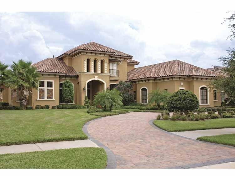 Mediterranean Style House Plan 5 Beds 5 Baths 5812 Sq/Ft