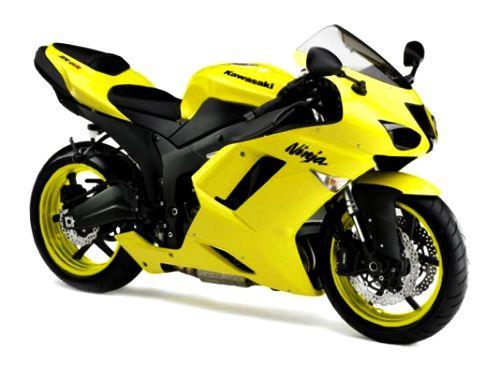 yellow kawasaki ninja | 2010 Kawasaki Ninja 636 ZX 6R Motorcycle ...