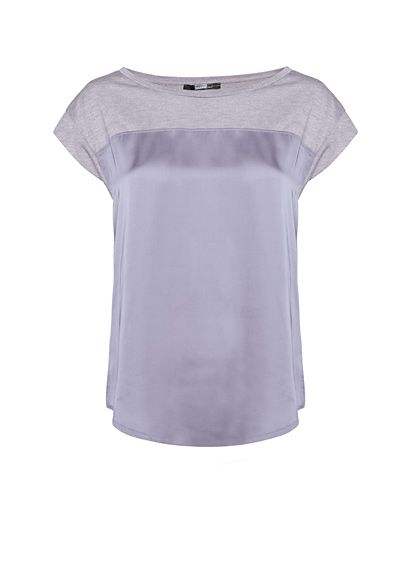 MANGO - Contrasted front t-shirt