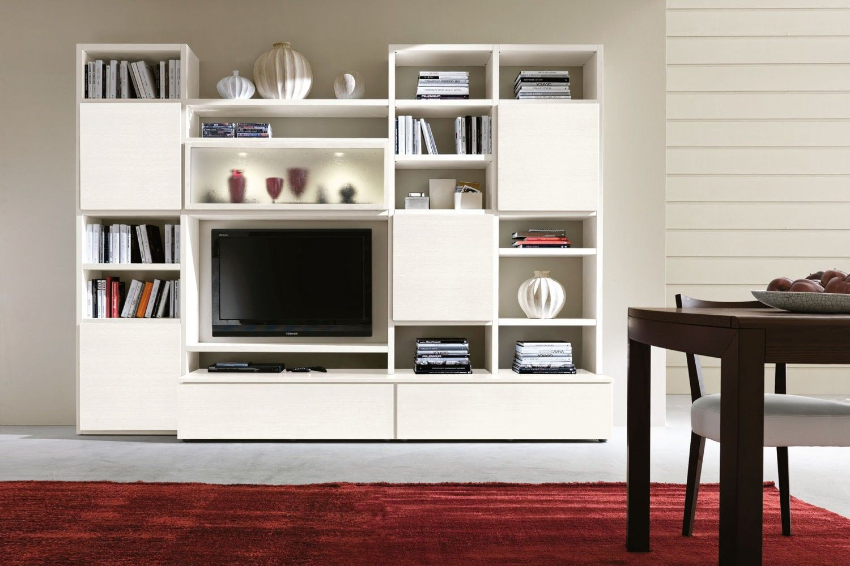 Marche Pareti Attrezzate Moderne.Parete Attrezzata Soggiorno Living Livingroom Mobile