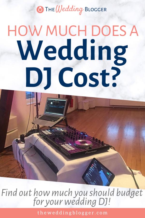 How Much Does a Wedding DJ Cost? in 2020 Wedding dj
