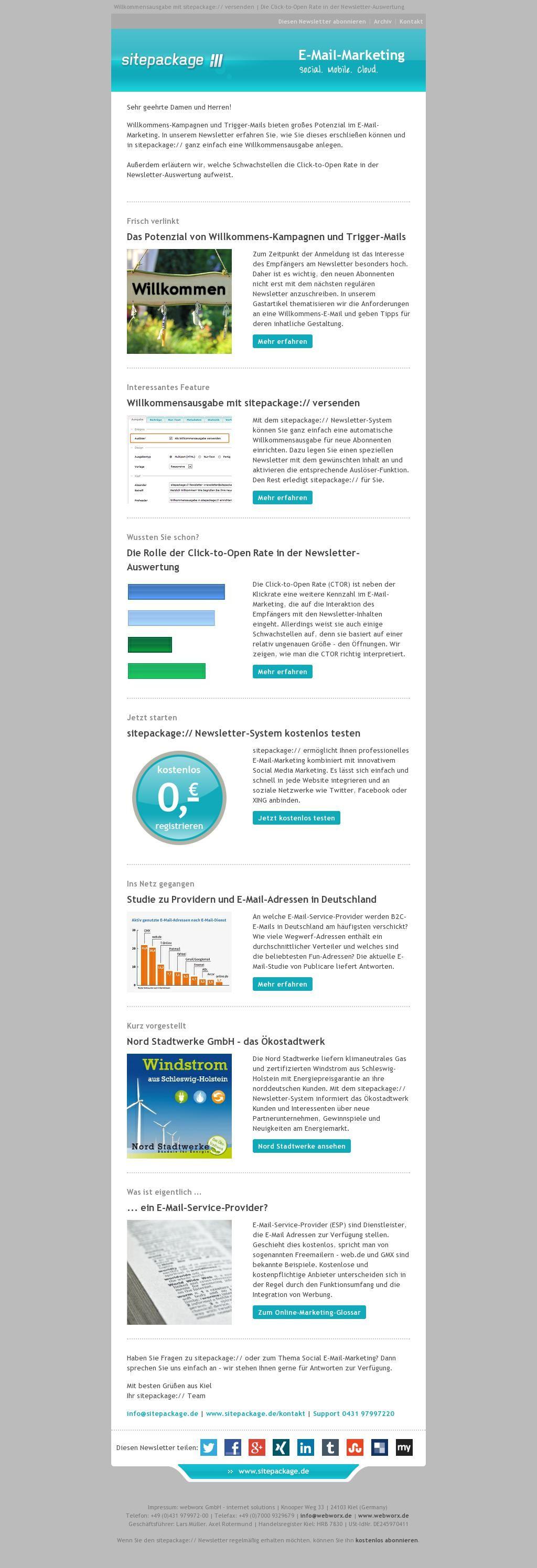 Herzlich Willkommen! Wie begrüßen Sie Ihre neuen Abonnenten? Im Oktober-Newsletter dreht sich alles um Willkommens-Kampagnen im E-Mail-Marketing. Außerdem erläutern wir, welche Schwachstellen die Click-to-Open Rate in der Newsletter-Auswertung aufweist.