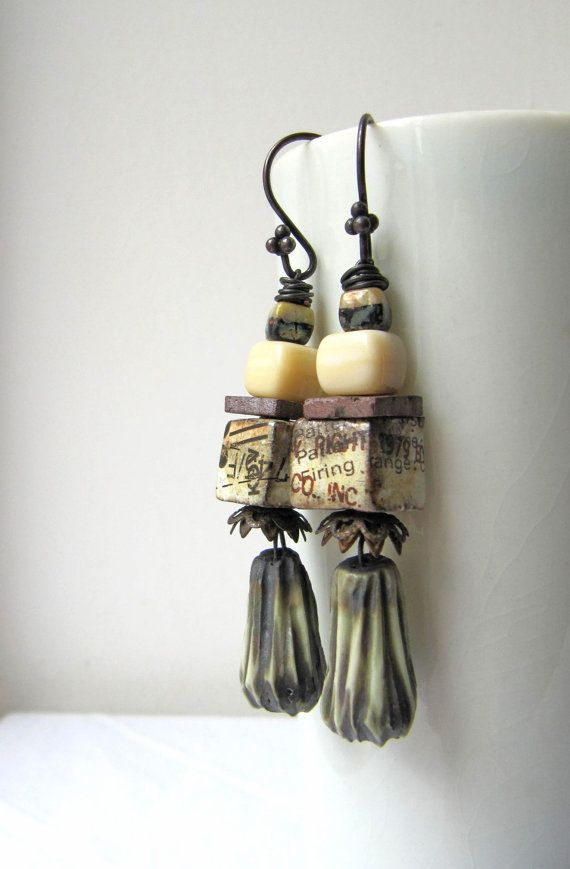 The Silent Tract  rustic earrings w/ artisan by somethingtodo