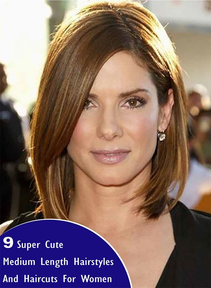 9 Super Cute Medium Length Hairstyles And Haircuts For Women In 2018
