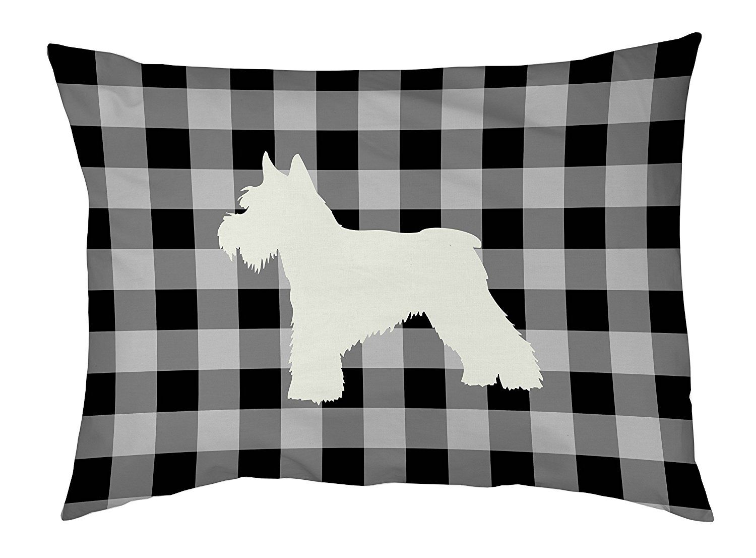 One Bella Casa Gingham Silhouette Schnazuer Outdoor Dog