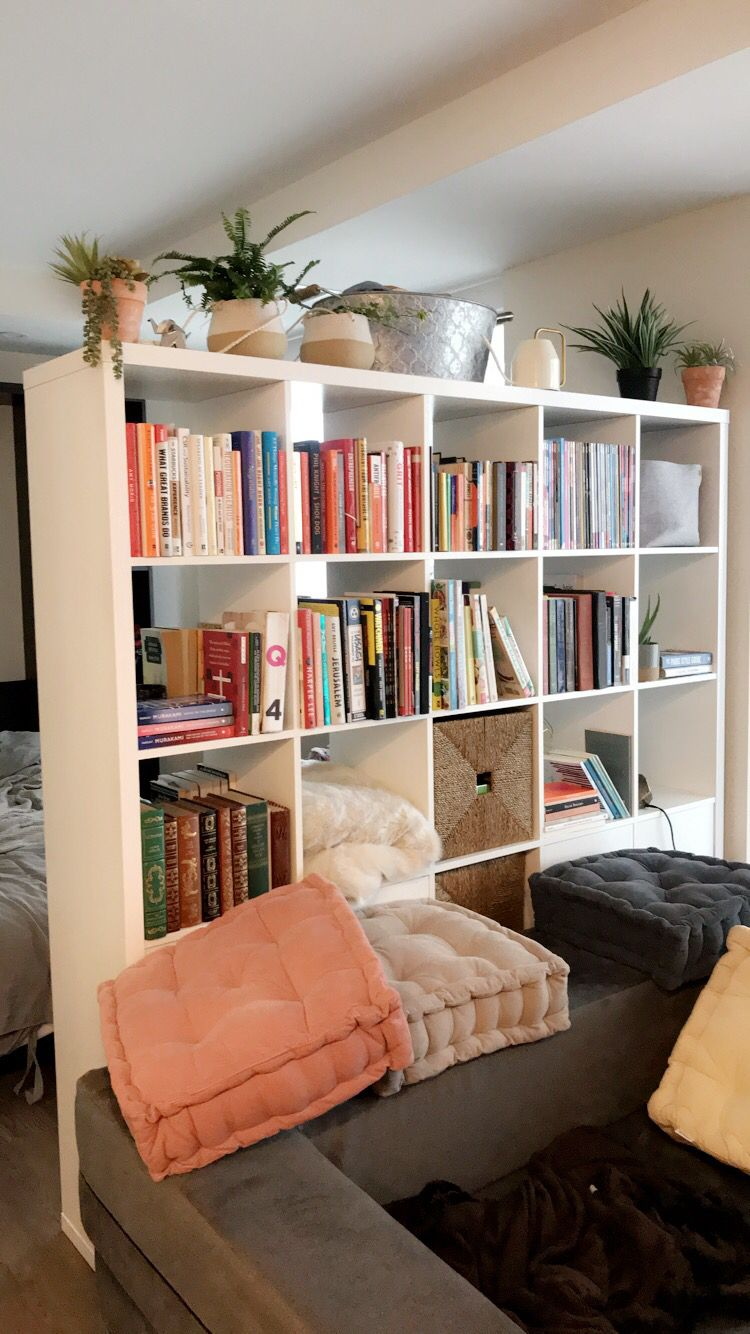 Ikea Bookcase As Studio Apartment Room Divider Ikea Room Divider