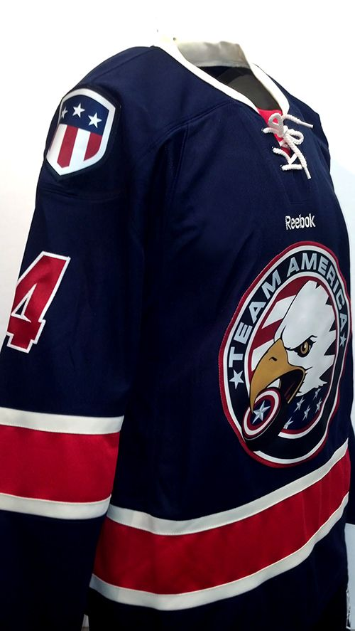 6630de3b7fe Team America's newest run of jerseys! These are some of the sharpest  looking custom hockey jerseys out there. #teamamerica #custom #hockey # jersey #reebok ...