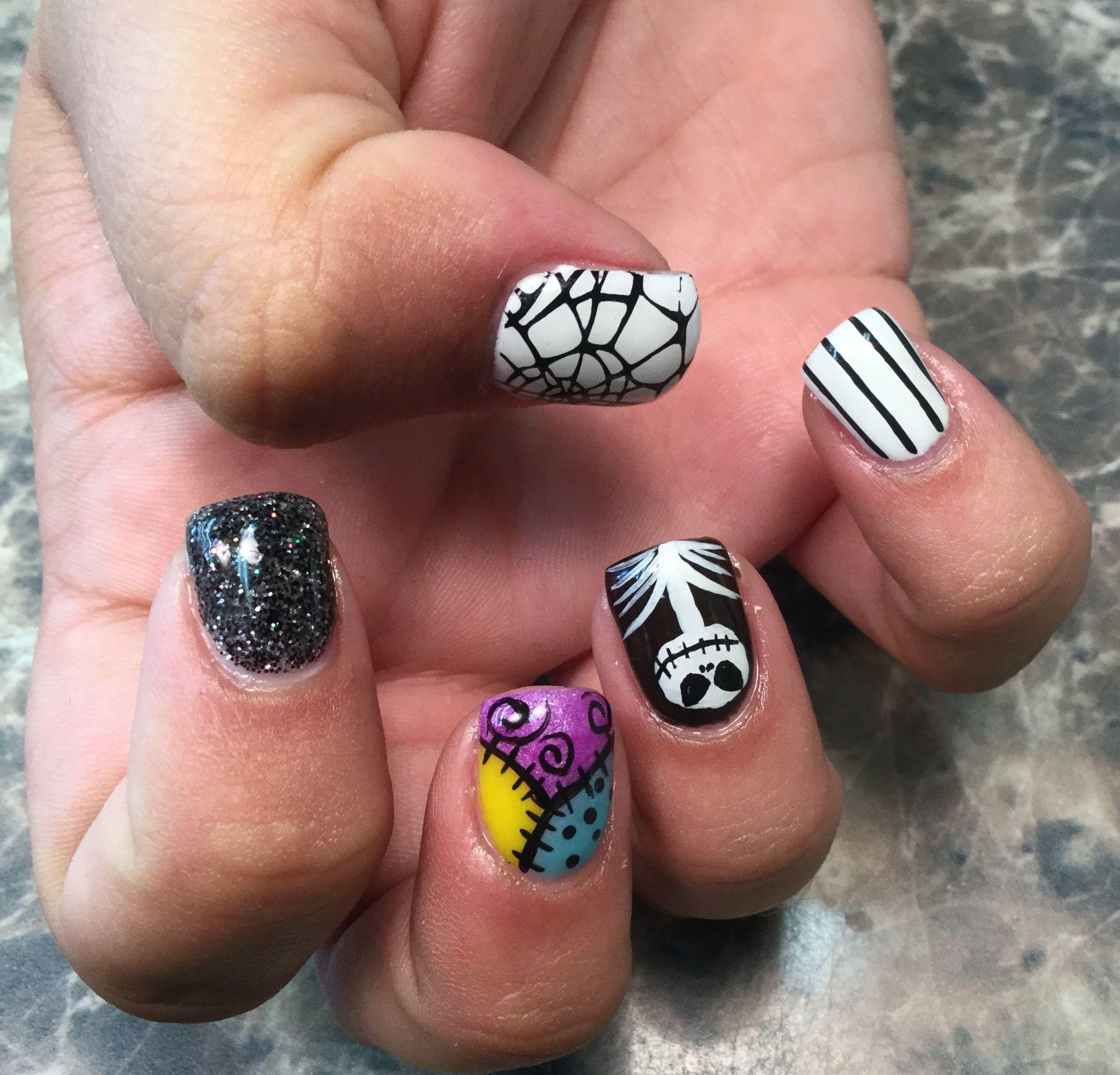 Halloween nails jack skellington | nails by jeana | Pinterest | Art ...