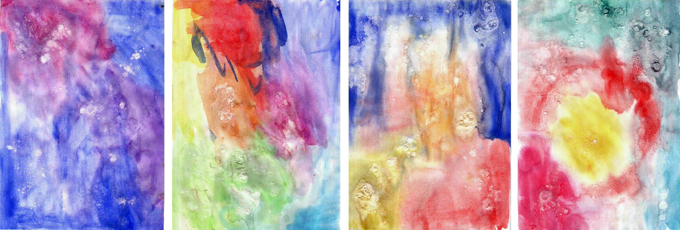 Aquarell Mit Backpulver Farben Mit Kindern Maltechniken Kunst