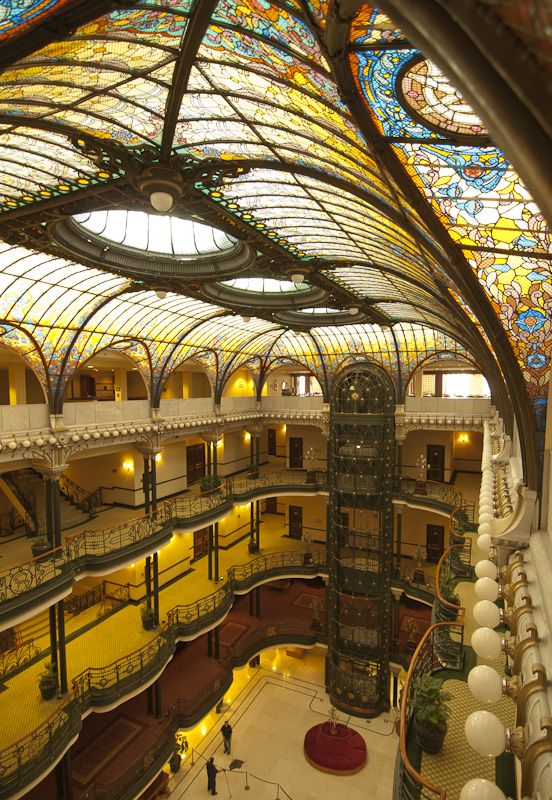 Gran Hotel Mexico City Lobby From Top Floor Architecture Old Architecture Beautiful Architecture